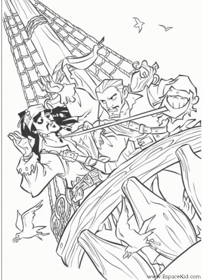 Coloriage jack le pirate dessin gratuit imprimer - Coloriage jack le pirate ...