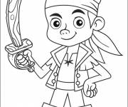 Coloriage et dessins gratuit Jack le pirate simple à colorier à imprimer
