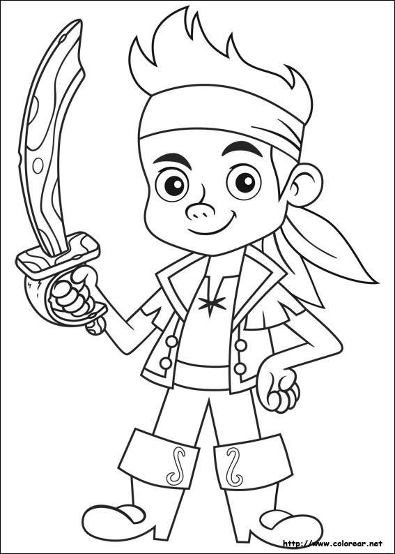 Coloriage et dessins gratuits Jack le pirate simple à colorier à imprimer
