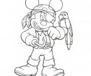 Coloriage et dessins gratuit Mickey en tant que pirate à imprimer