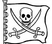 Coloriage Pavillon pirates