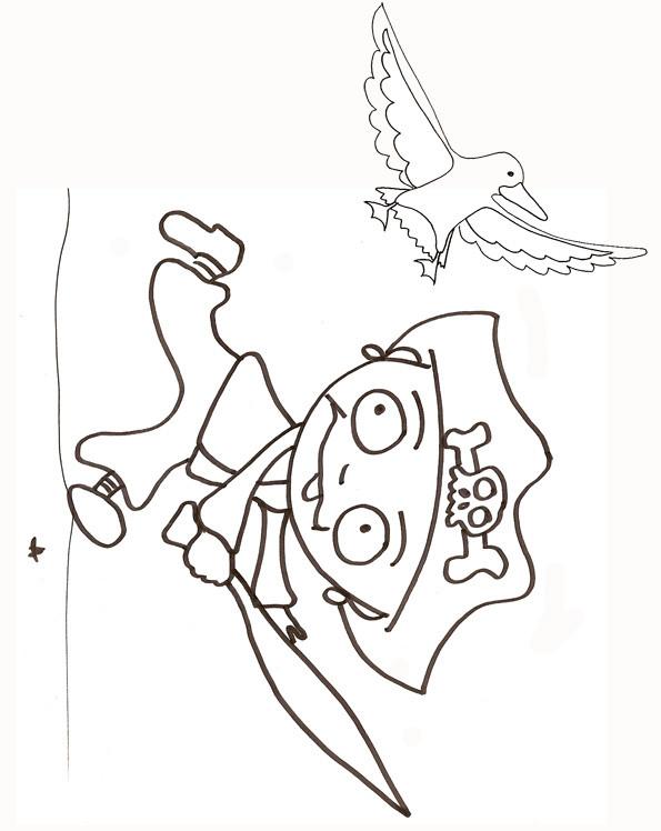 Coloriage et dessins gratuits Pirate au crayon à imprimer