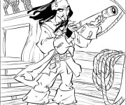 Coloriage dessin  Pirate des caraibes