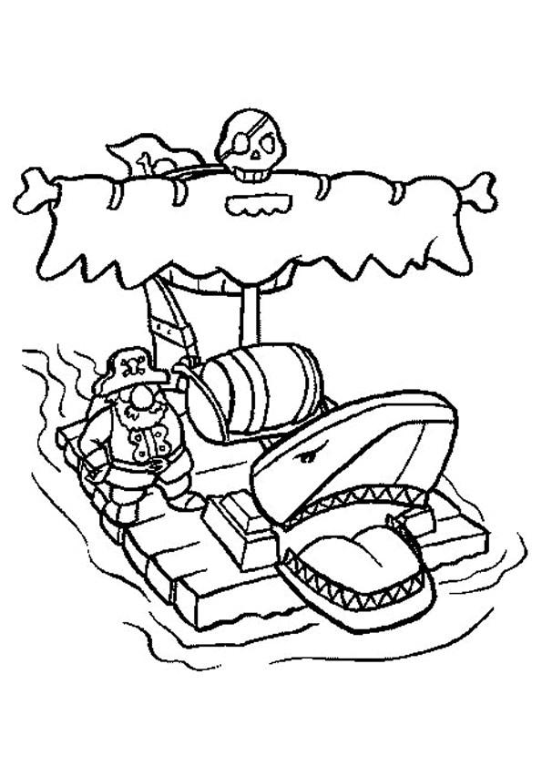 Coloriage et dessins gratuits Pirate en ligne à imprimer