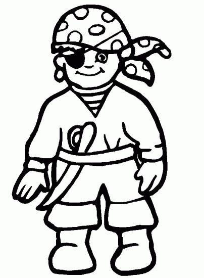 Coloriage et dessins gratuits Pirate facile à imprimer