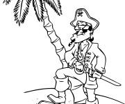 Coloriage Pirate humoristique