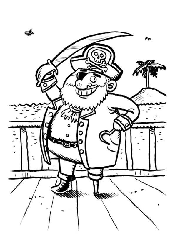 Coloriage et dessins gratuits Pirate maternelle à imprimer