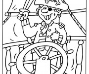 Coloriage Pirate souriant