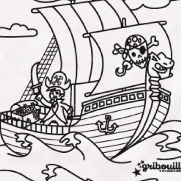 Coloriage pirate sur le bateau dessin gratuit imprimer - Coloriage bateau de pirate ...