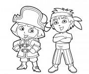 Coloriage dessin  Pirates enfants