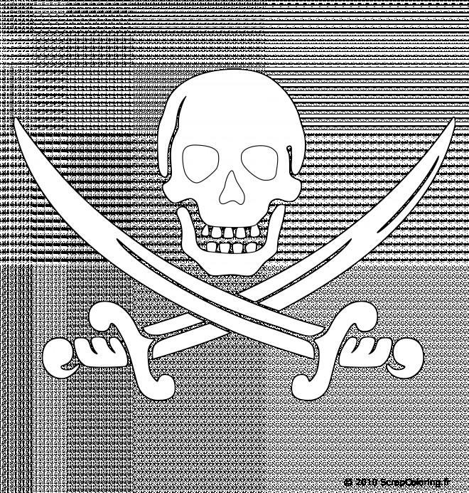 Coloriage et dessins gratuits Symbole de Pirate à imprimer