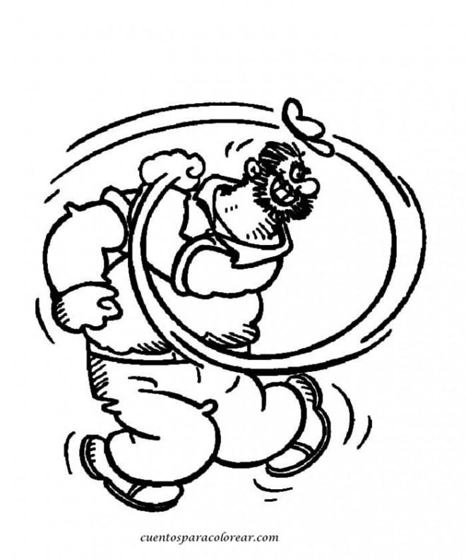 Coloriage et dessins gratuits Brutus L'ennemi de Popeye à imprimer
