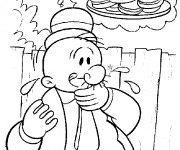 Coloriage Gontrant gourmand