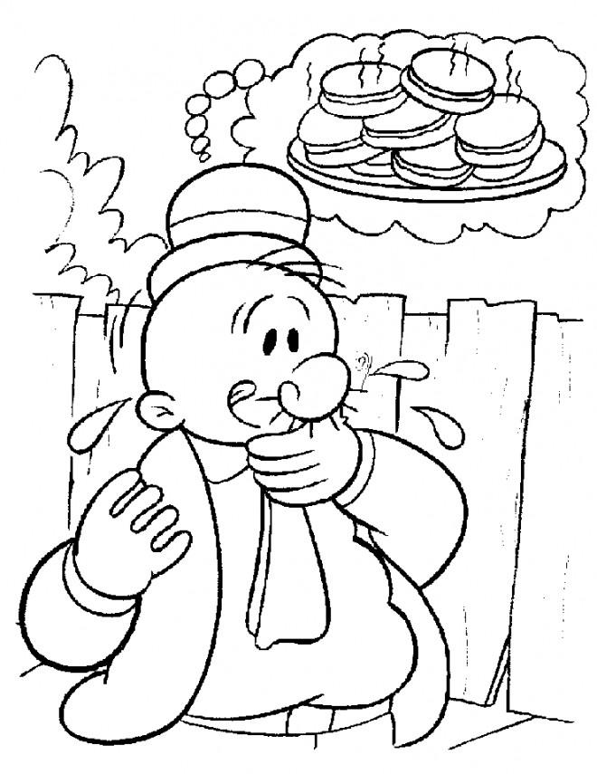 Coloriage et dessins gratuits Gontrant gourmand à imprimer