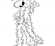 Coloriage et dessins gratuit La Femme de Popeye rigolote à imprimer