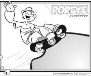 Coloriage et dessins gratuit Popeye 21 à imprimer