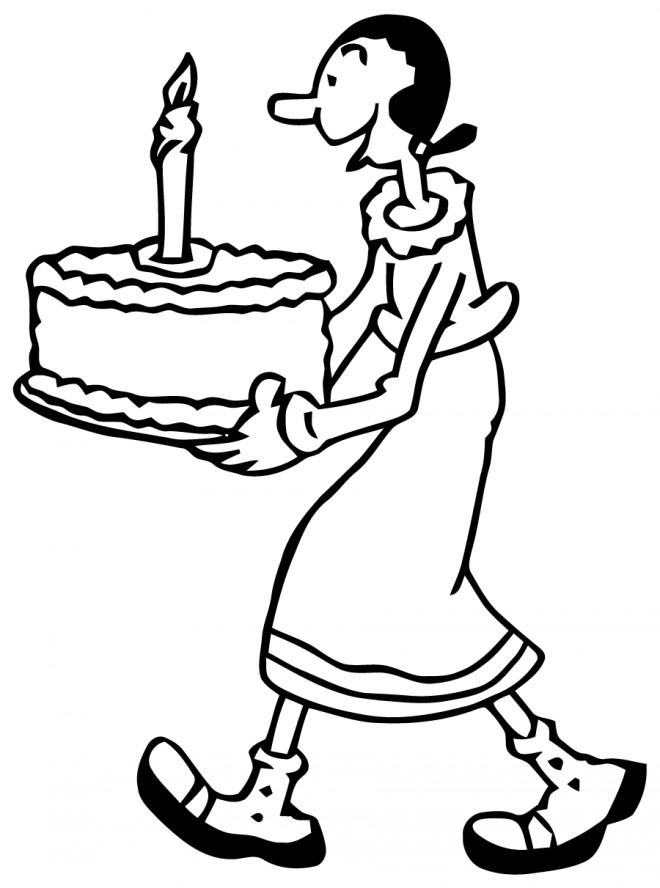 Coloriage et dessins gratuits Popeye 6 à imprimer