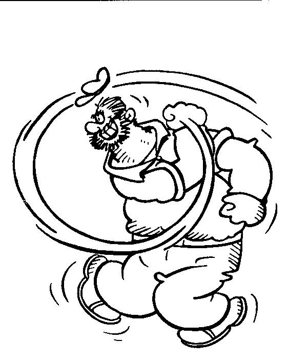 Coloriage et dessins gratuits Popeye Brutus à imprimer