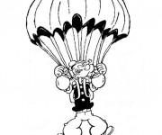 Coloriage Popeye dans Le Ciel