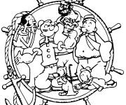 Coloriage Popeye dessin animé