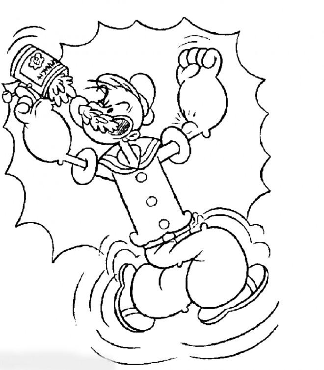 Coloriage et dessins gratuits Popeye en couleur à imprimer