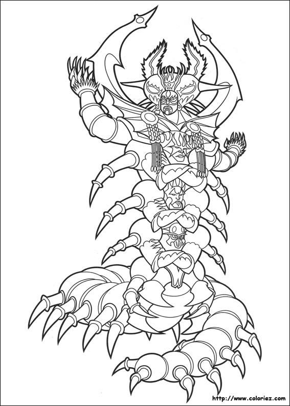 Coloriage et dessins gratuits Le Monstre de Power Rangers à imprimer