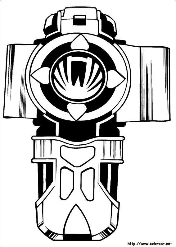 Coloriage et dessins gratuits Le Symbole de Power Rangers à imprimer