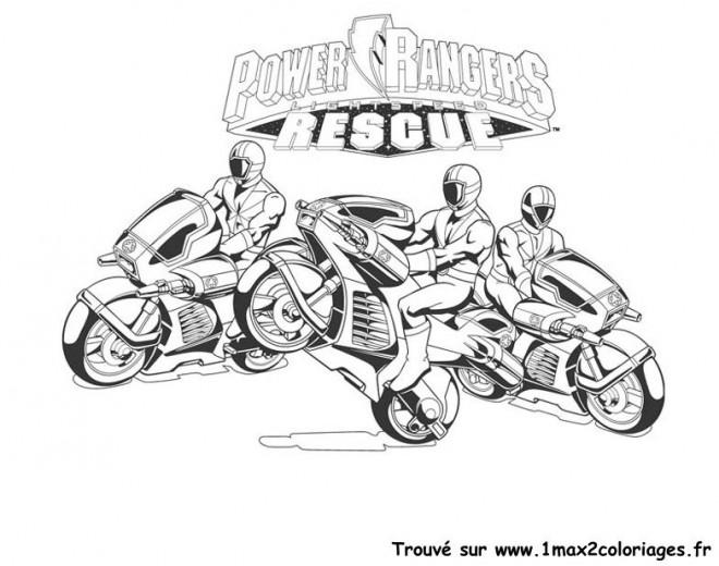 Coloriage les motos power rangers dessin gratuit imprimer - Coloriage power rangers megaforce a imprimer ...