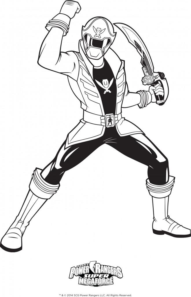 Coloriage Power Rangers Avec Epee Dessin Gratuit A Imprimer