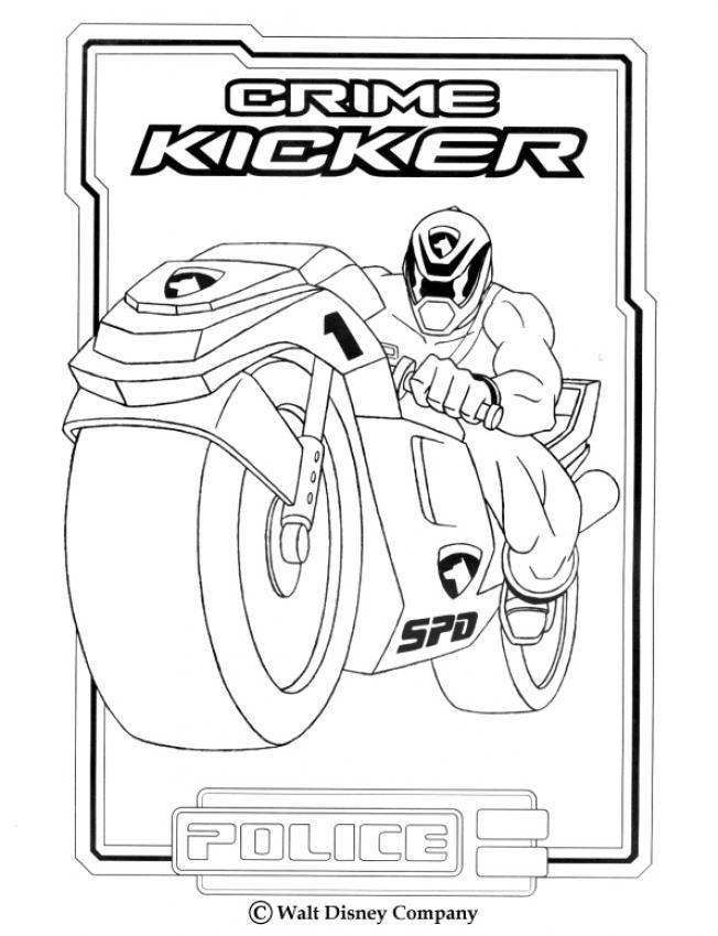 Coloriage et dessins gratuits Power Rangers Crime Kicker à imprimer