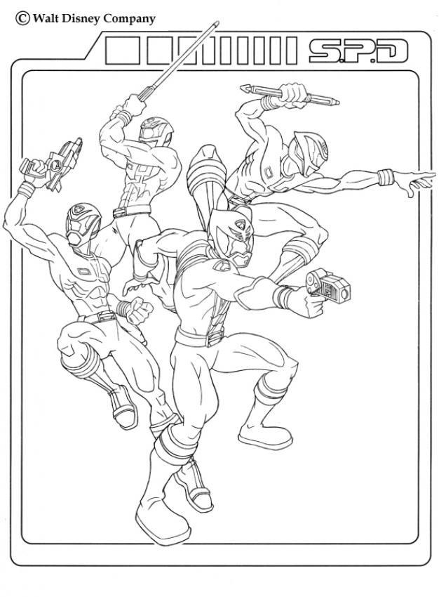 Coloriage et dessins gratuits Power Rangers Disney à imprimer