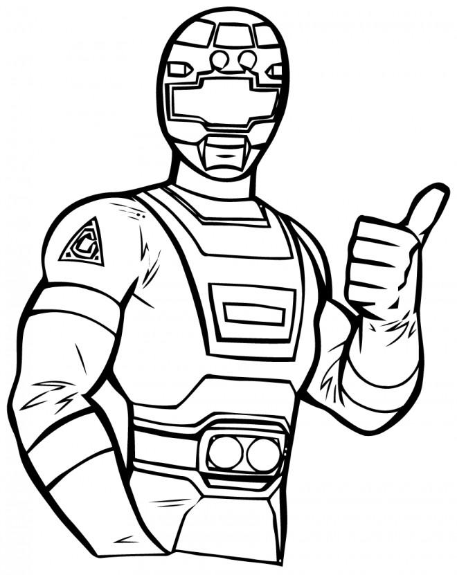 Coloriage et dessins gratuits Power Rangers en vecteur à imprimer