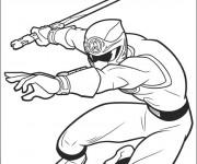 Coloriage et dessins gratuit Power Rangers et Armes à imprimer