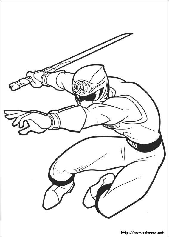 Coloriage et dessins gratuits Power Rangers et Armes à imprimer