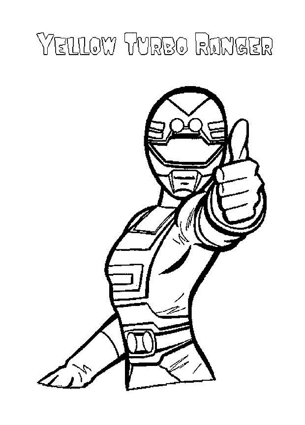 Coloriage et dessins gratuits Power Rangers Jaune à imprimer