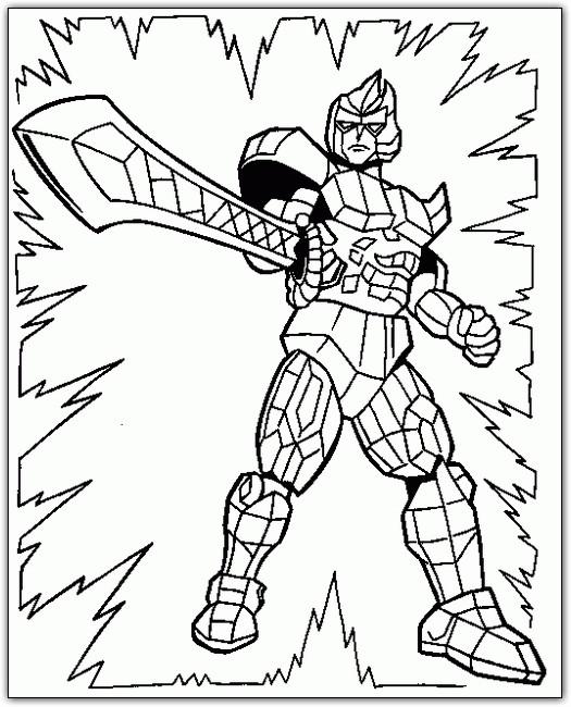 Coloriage et dessins gratuits Power Rangers maternelle à imprimer
