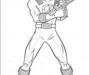 Coloriage et dessins gratuit Power Rangers Megazord à imprimer