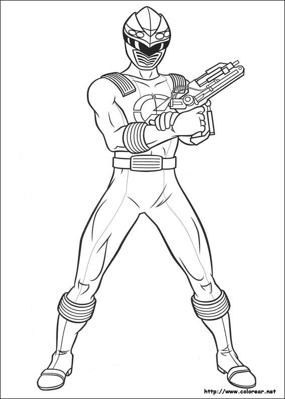 Coloriage et dessins gratuits Power Rangers Megazord à imprimer