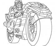 Coloriage et dessins gratuit Power Rangers Moto à imprimer