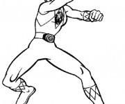 Coloriage et dessins gratuit Power Rangers Ninja magique à imprimer