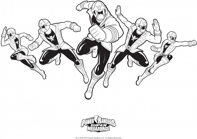 Coloriage et dessins gratuits Power Rangers pour Enfants à imprimer