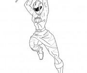 Coloriage et dessins gratuit Power Rangers samurai megazord à imprimer