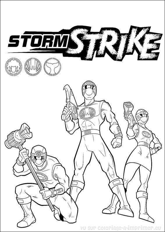 Coloriage et dessins gratuits Power Rangers Storm Strike à imprimer