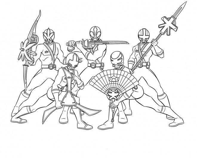 Coloriage et dessins gratuits Power Rangers Stylisé à imprimer