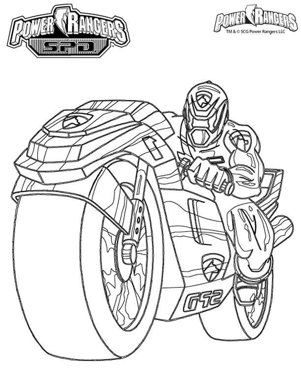 Coloriage et dessins gratuits Power Rangers Super Charge à imprimer