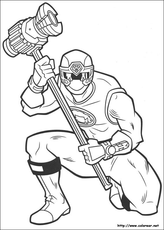 Coloriage et dessins gratuits Power Rangers super héros à imprimer