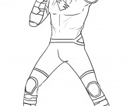 Coloriage Power Rangers Tigre