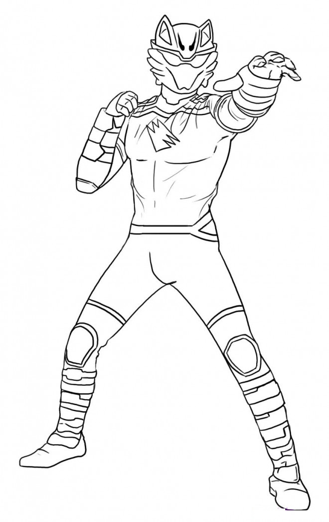 Coloriage Power Rangers Tigre dessin