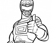Coloriage Red Turbo Ranger