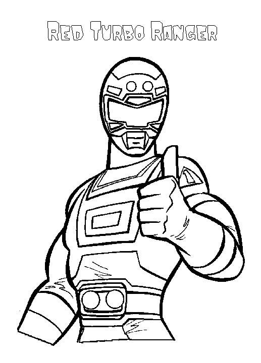 Coloriage et dessins gratuits Red Turbo Ranger à imprimer